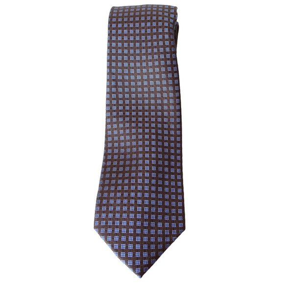 MICHAEL KORS Brown Small Stitched Neat Silk Tie